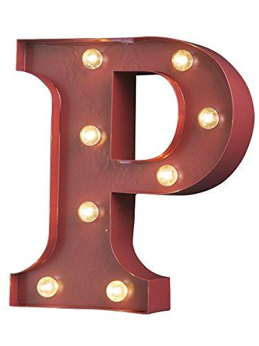 Lettera p luminosa in metallo con lucine a led 20x5x23 cm lettera p thecheapjerseys Choice Image