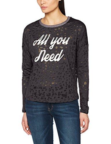 Q/S designed by - s.Oliver Damen T-Shirt Grau (Asphalt Placed Print 98D0)