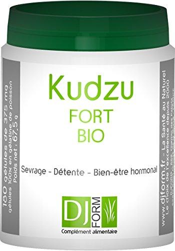 Kudzu Bio - 180 Kapseln - Trockenextrakt hochdosiert - 14% der Isoflavone - 35 mg Puérarine pro...