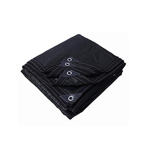 Yxsd Pare-Soleil Filet de Protection Solaire Épaississement Cryptage Ombre Filet Balcon Jardin Toit Remise Isolation Filet Noir (Taille : 3 * 5m)