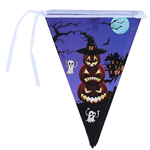 YSINFOD Halloween Kürbis Banner Lustige Kürbis Leuchtturm Ziehen Flagge für Indoor Outdoor Dekoration Partei Liefert Foto Prop