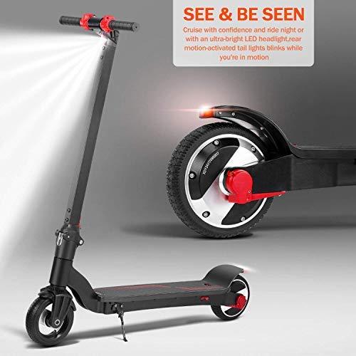 Phaewo Elektro Scooter LED Light Fast Speed 20 km/h 6,5 Zoll E-Scooter 7.5kg Faltbare und Höhenverstellbare Elektroroller für Teen und Adult Mixed (EU Version d mit Garantie) (H65C-Schwarz)