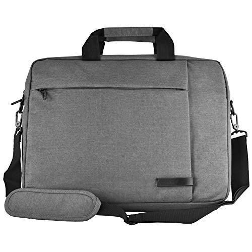 Messenger Leinwand Laptop Tasche passt für bis zu 39,6cm für Apple MacBook Acer HP Google Chrome etc. (grau) (Hp-laptop-google Chrome)