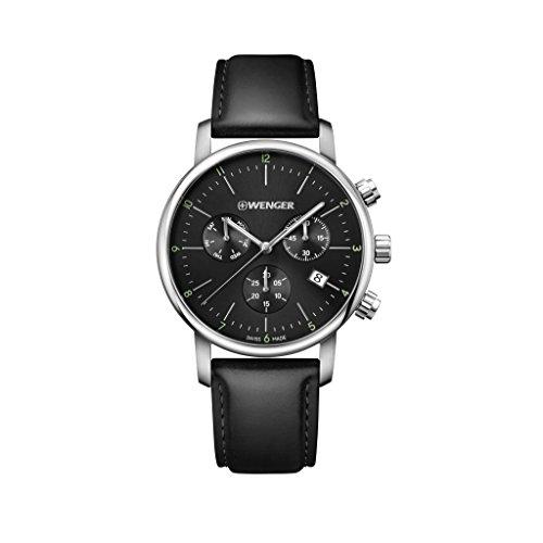 WENGER Reloj Cronógrafo para Unisex de Cuarzo con Correa en Cuero 01.1743.102