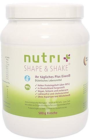 Nutri-Plus Shape & Shake Vegan Cherry 500g - Without aspartame, lactose, cholesterol and