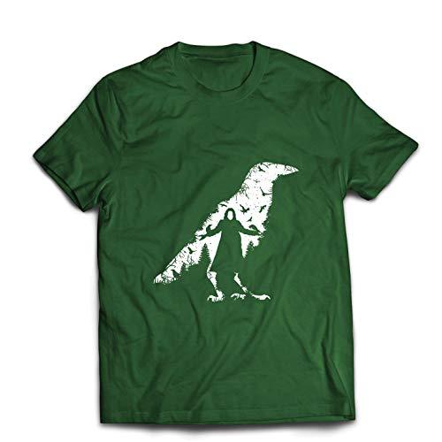 lepni.me Männer T-Shirt Die Krähe - die Toten und die verlorenen Seelen (X-Large Dunkelgrün Mehrfarben) (Die Krähe Film Kostüm)