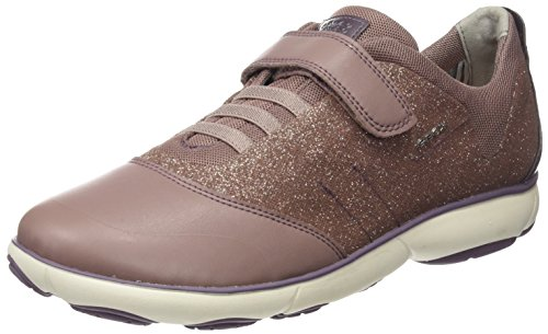 Geox J Nebula A, Sneakers Basses Mixte Adulte Rose (Lt Pink)