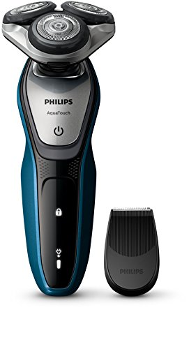 Philips AquaTouch S5420/04 Rotation Trimmer Blue, Grey Men 's Shaver – Men 's Shavers (AC/Battery, Lithium-Ion (Li-Ion), Rotation, Blue, Grey, Ergonomic, SH50)
