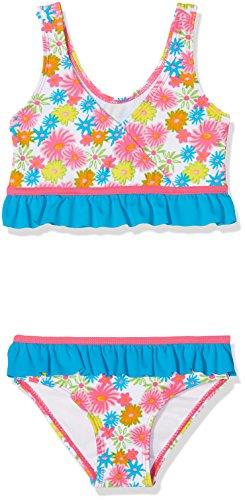 Playshoes Mädchen Zweiteiler Blumenmeer Mit Uv-Schutz Mehrfarbig (Pink 18) 122 (Herstellergröße: 122/128)