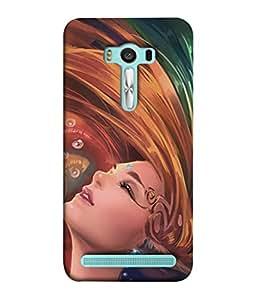 PrintVisa Designer Back Case Cover for Asus Zenfone 2 Laser ZE500KL (5 Inches) (Hot poster Heaven girl)