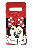 Onix Store Rot matt Fall mit Minnie Mouse Disney Cartoon Charakter, ideale schützende Silikonhülle für Samsung (Galaxy S10)
