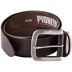 Pioneer - Cinturón para hombre, color negro (black 011), 7 agujeros, talla 120 cm