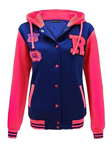 Noroze Femmes Baseball R Varsity veste Sweat à capuche Taille 36 38 40 42 44