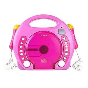 x4 tech bobby joey mp3 kinder cd player pink. Black Bedroom Furniture Sets. Home Design Ideas