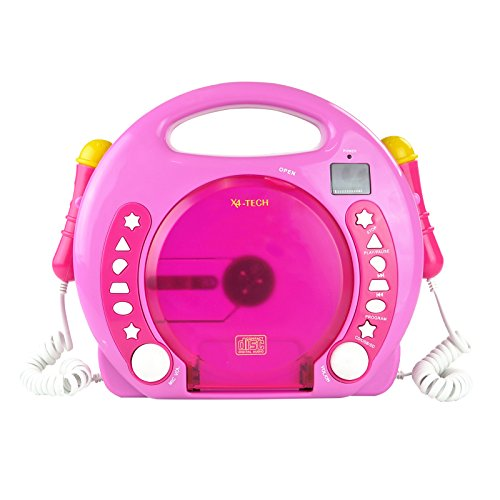 X4 TECH Bobby Joey Kinder CD-Player mp3 Pink