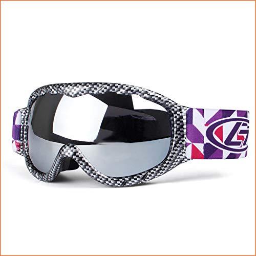 Occhiali da sci per bambini per uomo, tpu doppio specchio antiappannamento protezione uv può essere dotato di miopia antiriflesso resistenza agli urti pattinaggio / motoslitta per l'alpinismo,black