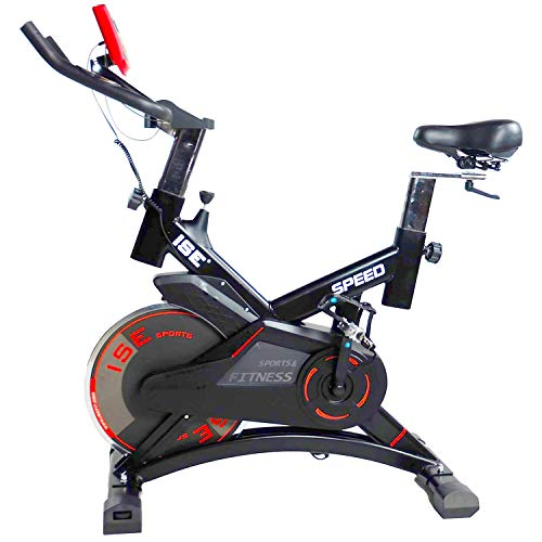 ISE Indoor Spinning Bike Cardio con Volano da 13...