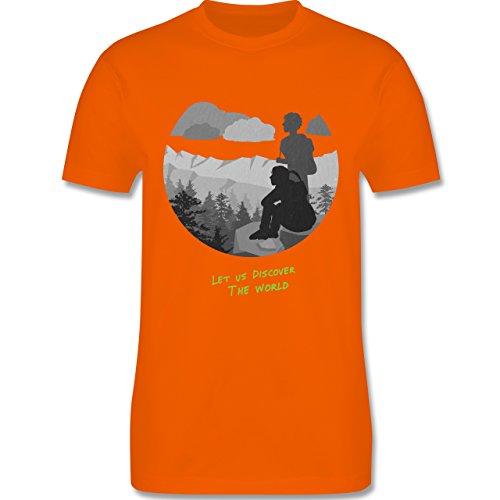 Statement Shirts - Backpacker - Herren Premium T-Shirt Orange