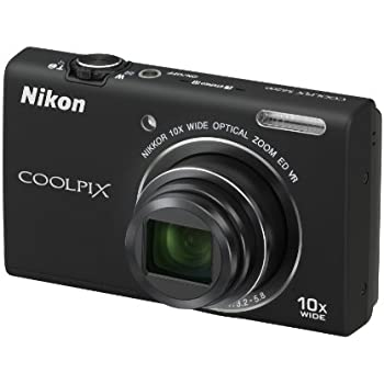 Nikon Coolpix S6200 Digitalkamera (16 Megapixel, 10-fach opt. Zoom, 6,7 cm (2,6 Zoll) Display, HD-Video, bildstabilisiert) schwarz