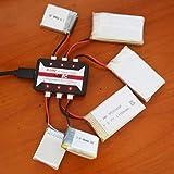 Lorenlli Fit HotRc A100 6 in 1 3,7 V Lipo Ladegerät Mit Übertemperaturschutz Fit Für Hubsan X4 Q4 H107L H107C WLtoys