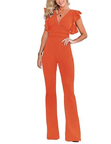 Mioloe Damen Jumpsuit Gr. (46-48) X-Large, Orange