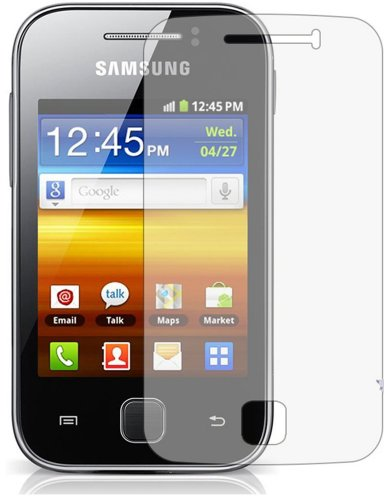 3 x Displayschutzfolie passgenau für Samsung GT S5360 Galaxy Y - Anti-Kratzer Displayschutz unsichtbar Folie