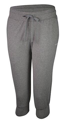 Reebok Womens EL Jersey Running / Fitness Gym Cuffed Capri Hose Pants S Megrhe (Capris Womens Reebok)