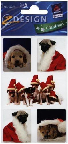 AVERY Zweckform ZDesign WeihnachtsSticker ´Hund´ 52269