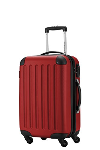 HAUPTSTADTKOFFER Handgepäck · Hartschalenkoffer · TSA Zahlenschloss + DESIGN KOFFERANHÄNGER (Farbe: Rot - Serie: SPREE)