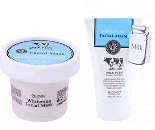 Whitening Milch (Beauty Buffet Scentio Milk Plus Whitening Q10Schaumstoff Gesichtswasser 100ml. Beauty Buffet Milch Plus Whitening Q10Gesichtsmaske 100ml.)