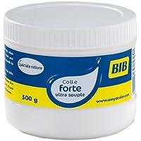 GIOTTO Bib-Flacon 500 g Colle Reliure Extra-Forte Blanche, Fabric, Blanc, 500g