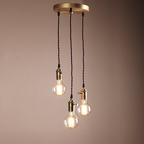 Buyee-Deco-Cluster-13-Vintage-Ceiling-Light-Antique-Lampholder-Hanging-Lamp-Retro-Pendant-Light-with-2m-Braided-Ceiling-Cablebulb-not-included