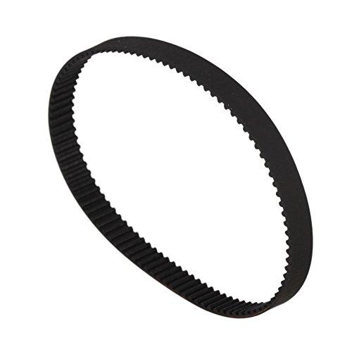 WEONE Black (Fiber Reinforced Rubber) 200-2GT Timing Belt Annular Loop Rubber 6mm Width 2mm Pitch Close End Geared Belt Pack of 2