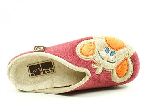 Manitu 320447 donna slippers Rot