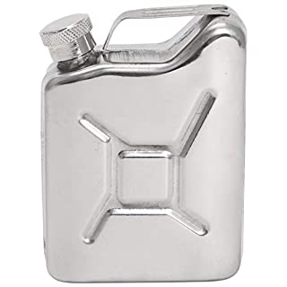 GROOMY 5OZ Jerrycan Oil Liquor Hip Flask Wine Pot Stainless Steel Petrol Gasoline Can