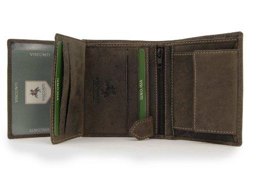 Portafoglio uomo in pelle regalo Visconti - 708 Olio Marrone