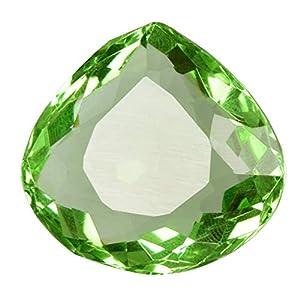Anhängergröße Grüner Amethyst 29,50 Ct Durchscheinender Amethyst Birne Grüner Amethyst Edelstein