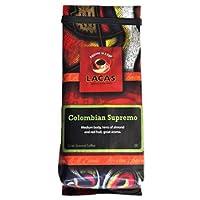 Lacas Colombian Supremo Coffee 12 oz Whole Bean Bag