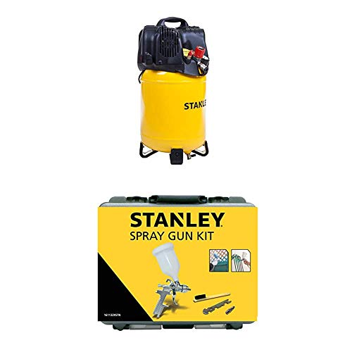 STANLEY Compressor D200/10/24V + Spray Gun Kit Nylon