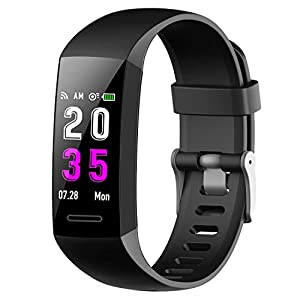 417%2BXr3qV6L. SS300  - Feob Fitness Trackers, Fitness Watches with Heart Rate Monitor Blood Pressure Activity Tracker Smart Watch Waterproof IP67 Fitness Wristband with Stopwatch Sport GPS Calorie for Womens Mens-Black