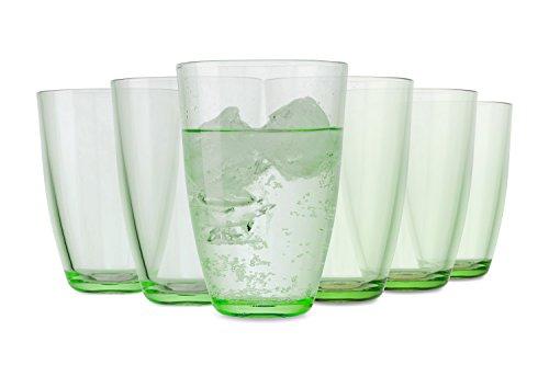 Verres Rio de Tivoli / Lot de 6 /350 ml / Verres à eau / en vert / lave-vaisselle
