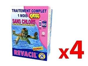 Pack 4mois traitement d'eau Mareva TCM REVACIL 18à 30m³ Mareva 140002X4