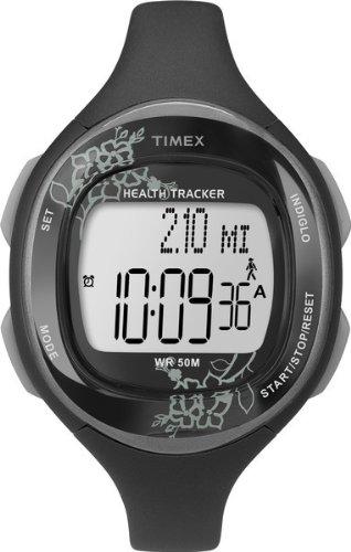 Timex T5K486F7 – Reloj para mujeres, correa de resina color negro