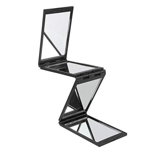 Panel Beleuchtete Make-up-spiegel (Schminkspiegel faltbar Mehrere Anwendungen 1 PC 4 Falten Spiegel Panel erweiterbar Schminkspiegel vier Seiten mit Fall (Color : Mirro))