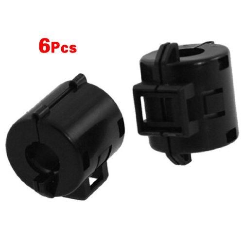SODIAL (R) 6 Stueck schwarz 8mm Dia Kabel Ferritkern Noise Suppressor Filter - Kern-filter