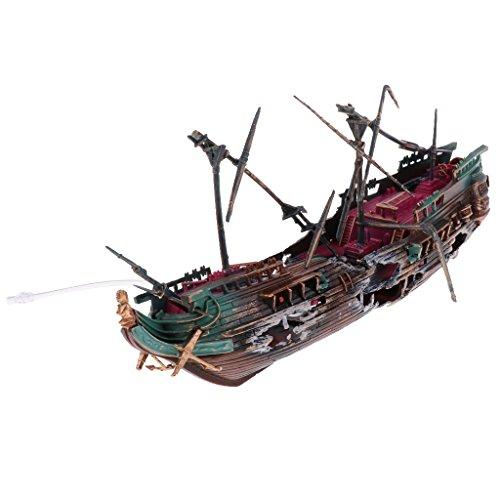 perfk Aquarium Schiffswrack Deko - Farbe 2 -