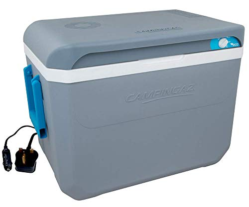 Coolbox - Powerbox Plus Cooler 12/230V Grey and White 36L - Campingaz -
