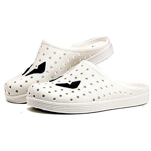 Eastlion Home Hausschuhe Herren Garten Schuhe Mode Sandalen Breathable Löcher Hausschuhe Weiß