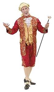 WIDMANN Bordeaux Marquis Male Costume, Size L (disfraz)