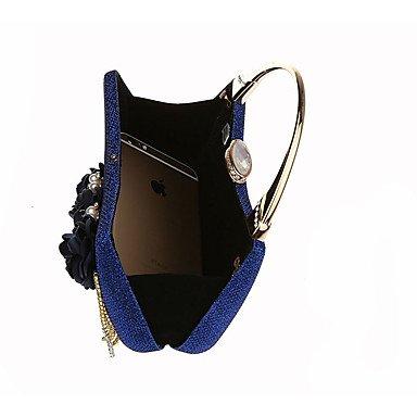 WZW Donna Sacchetti Per tutte le stagioni Poliestere Conchiglia Borsa da sera con Con diamantini Dettagli con perline Perlina Nappa Floreale . champagne blue